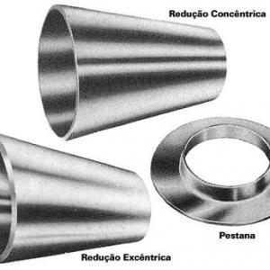 Reduções e Pestana Aço Inoxidável